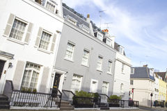 Huizen in Knightsbridge Londen Stock Foto's
