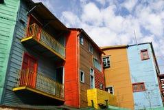 Huizen in La Boca, Argentinië Stock Foto