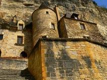 Huizen, La roque-Gageac (Frankrijk) Stock Foto's