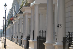 Huizen in Londen Royalty-vrije Stock Afbeeldingen