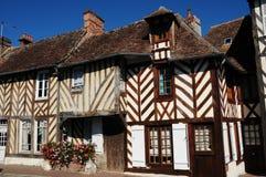 Huizen in Normandië Royalty-vrije Stock Foto's