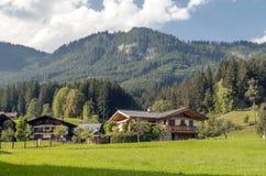 Huizen in Oostenrijk Royalty-vrije Stock Afbeelding