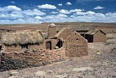 Huizen op Altiplano in Bolivië, Bolivië Royalty-vrije Stock Fotografie