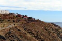 Huizen op een heuvel die Valparaiso overzien, Royalty-vrije Stock Foto