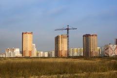 Huizen op een nieuw gebied. Royalty-vrije Stock Afbeelding