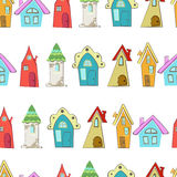 Huizen pattern Royalty-vrije Stock Afbeelding