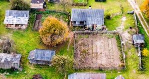 Huizen in platteland royalty-vrije stock foto
