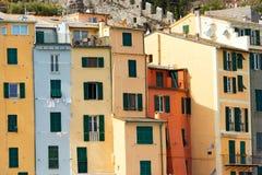 Huizen in Portovenere Ligurië Italië Royalty-vrije Stock Foto