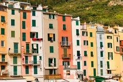 Huizen in Portovenere Ligurië Italië Royalty-vrije Stock Afbeeldingen