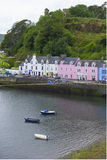 Huizen in Portree Stock Foto