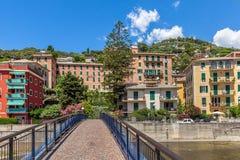 Huizen in Recco, Italië Stock Afbeeldingen