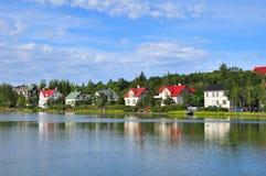Huizen in Reykjavik Stock Afbeelding