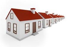 Huizen in rij Stock Afbeelding