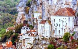 Huizen in Rocamadour Royalty-vrije Stock Foto's