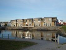 Huizen in Rorvik stock afbeeldingen