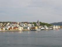 Huizen in Rorvik Royalty-vrije Stock Foto's
