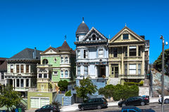 Huizen in San Francisco, Californië Stock Foto