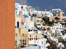 Huizen in Santorini Royalty-vrije Stock Foto