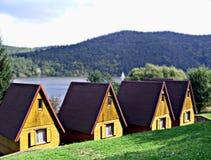 Huizen in Tsjechische provincies stock afbeelding