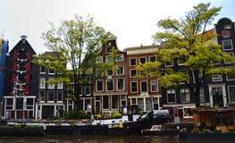 Huizen van Amsterdam royalty-vrije stock afbeeldingen