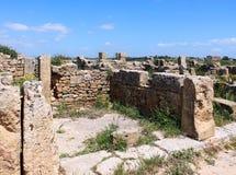 Huizen van de oude Griekse kolonie van selinunte Stock Fotografie