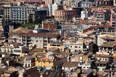 Huizen van de stad van Girona, Spanje Royalty-vrije Stock Afbeeldingen