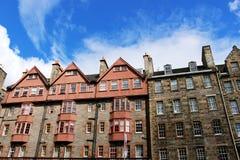 Huizen van Edinburgh Stock Foto's