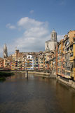 Huizen van Girona Royalty-vrije Stock Foto's
