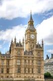Huizen van het Britse Parlement en Big Ben Stock Foto