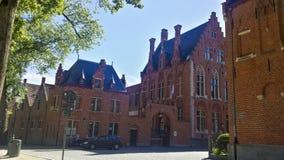 Huizen van het oude deel van Brugge royalty-vrije stock fotografie