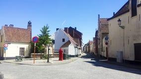 Huizen van het oude deel van Brugge royalty-vrije stock foto's