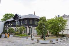 Huizen van het oude deel van Brussel royalty-vrije stock afbeeldingen