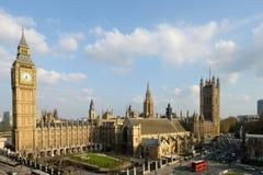Huizen van het Paleis van het Parlement van Londen van Westminster Stock Foto's