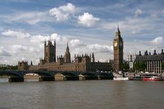 Huizen van het Parlement & de Big Ben Royalty-vrije Stock Afbeeldingen
