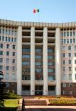 Huizen van het Parlement in Chisinau, Moldova stock afbeelding
