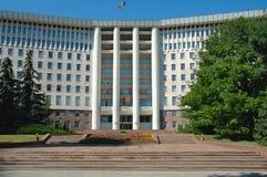 Huizen van het Parlement in Chisinau, Moldova royalty-vrije stock foto