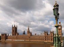 Huizen van het Parlement en de Big Ben Royalty-vrije Stock Afbeeldingen