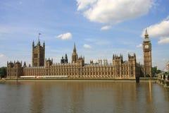 Huizen van het Parlement en de Big Ben Royalty-vrije Stock Afbeelding