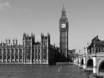 Huizen van het Parlement en de Big Ben, Londen. Stock Afbeelding