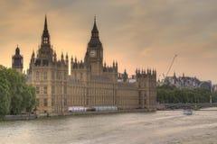 Huizen van het Parlement HDR Stock Afbeeldingen