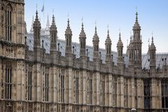 Huizen van het Parlement, het Paleis van Westminster, Londen Royalty-vrije Stock Fotografie