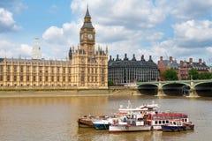 Huizen van het Parlement. Londen, het UK Royalty-vrije Stock Afbeelding