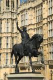 Huizen van het Parlement Richard 1 Royalty-vrije Stock Foto's
