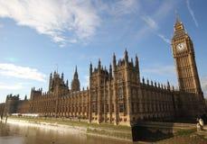 Huizen van het Parlement van het Paleislonden van Westminster gotische architectu Royalty-vrije Stock Foto's