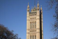 Huizen van het Parlement, Westminster; Londen Stock Foto