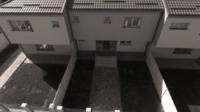 Huizen van hommel, luchtmening worden gezien die royalty-vrije stock afbeelding