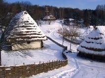 Huizen van logboeken Stock Afbeelding