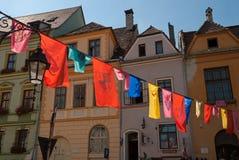 Huizen van Sighisoara Royalty-vrije Stock Fotografie