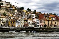 Huizen in Vila-nova DE Gaia royalty-vrije stock afbeelding