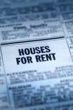 Huizen voor Huur Classifieds Stock Foto's
